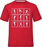 Tee Shirt Enfant Dance Emotes Celebrations Rouge 12-14 Ans (Poitrine 36')