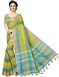Indira Designer Women's Cotton with Blouse Piece Saree