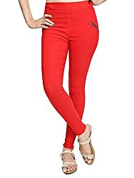 Vbirds Girls Fit Pant Jegging Red Size-28 (Only one)