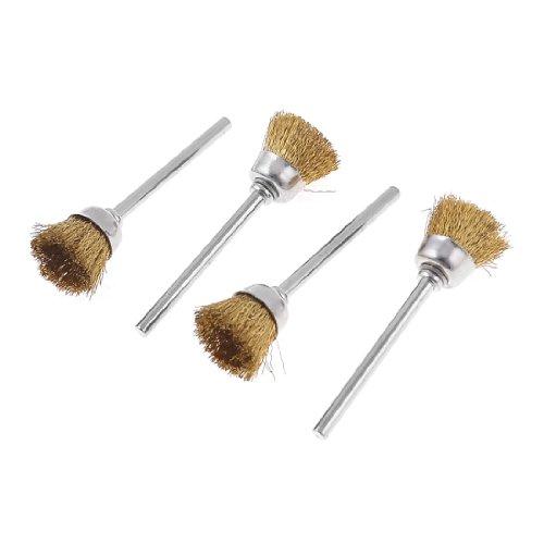 Forma a coppa in metallo, 4 fili, con spazzola per lucidatura (2 5,08 cm, tonalità oro