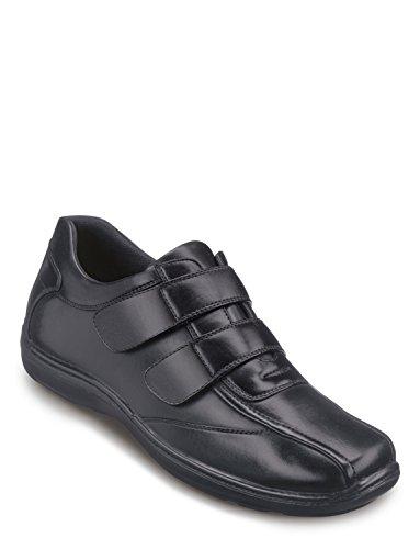 Hommes Coussin Pied Double Velcro Avec Coussin De Gel Noir