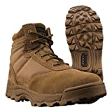 "Originial SWAT Men's Brown Leather Classic 6"" Coyote Military and Tactical Boot UK"