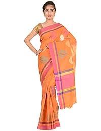 Paheli Women's Silk Saree (Orange)