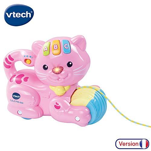 Vtech - 158255 - Jouet À Tirer - 1,2,3 P'tit Chat - Rose
