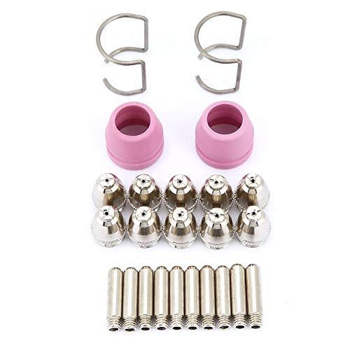 24 Teile/satz AG60 SG55 Plasmaschneider, Plasmaschneider Schneidbrenner Verbrauchsmaterial Elektrodendüsen Tassen Kit