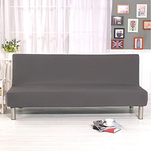 Sotoboo copridivano–lusso morbido tessuto elasticizzato di divano senza bracciolo divano protector divano a 3posti divano slipcovers della sedia di divano in colore grigio nero, gray, taglia unica