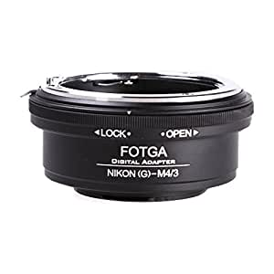 Fotga Adaptateur d'objectif pour appareil photo M4/3