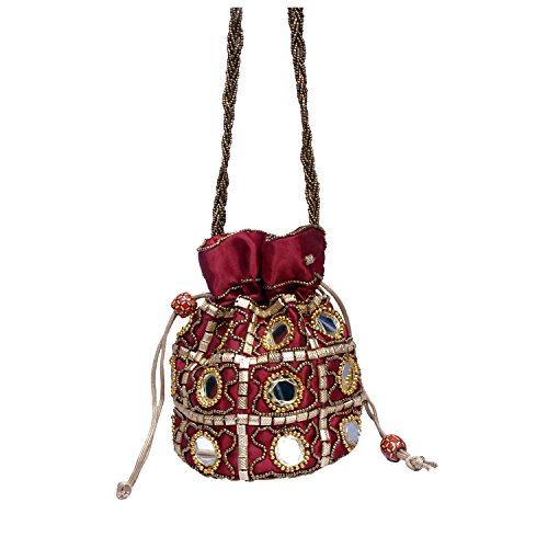 Craft Trade Ethnic Rajasthani Potli Bag For Women, Bridal, Casual, Party , Wedding  available at amazon for Rs.336