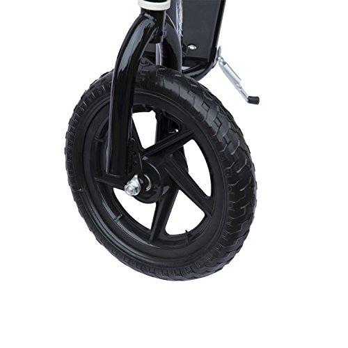 Homcom Teen Push Scooter Kids Children Stunt Scooter Bike Bicycle Ride On 12″ Tyres (Black)