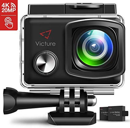 Victure Action Kamera Akkus 1050mAh Wiederaufladbares (2 Stücke) Dual USB Ladegerät APEMAN Sjcam Go pro Hero