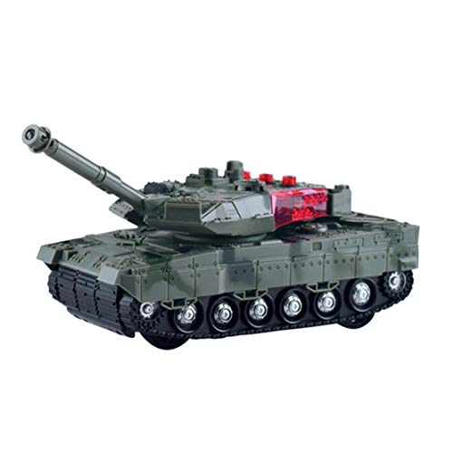 happy event Panzer Tank Fernbedienung Mini RC Panzer Rotating Turret Realistische Sounds & Light