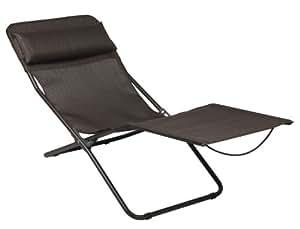 Lafuma LFM2402-5021 Transalounge XL Chaise longue pliable avec toile Marron