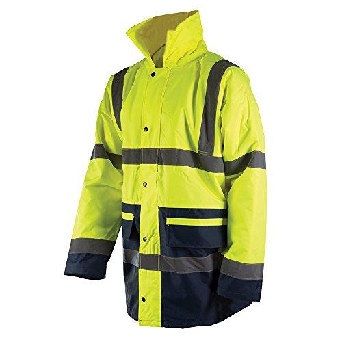 Silverline 868887 Zweifarbige Warnschutzjacke, Klasse 3 Größe: L (100-108 cm) - Baby Wetter Kleidung Kaltem