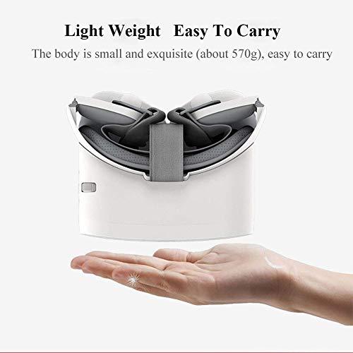 XVKRYLJ Faltbar 3D VR Brille 5.5 Zoll WiFi Game Brille Virtuelle Realität Headset Kompatibel Von Smartphones Kommt Mit Stereo-Kopfhörern, Für Handy Video Movie