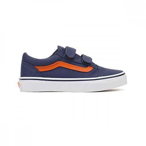 Vans Jungen Uy Old Skool V Sneakers Crown Blue/mandarin Orange