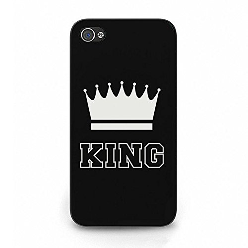 Boyfriend Girlfriend Lovers Iphone 4/4s Case,Luxury Perfect King Queen Couple Phone Case Cover for Iphone 4/4s Best Friends Fashonable Color091d