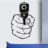 Lkfqjd Pistola De Tiro Cool Boys Dormitorio Sala De Estar Arte De La Pared Pegatinas De Vinilo Decoración Para El Hogar Mural Size42 * 66 Cm