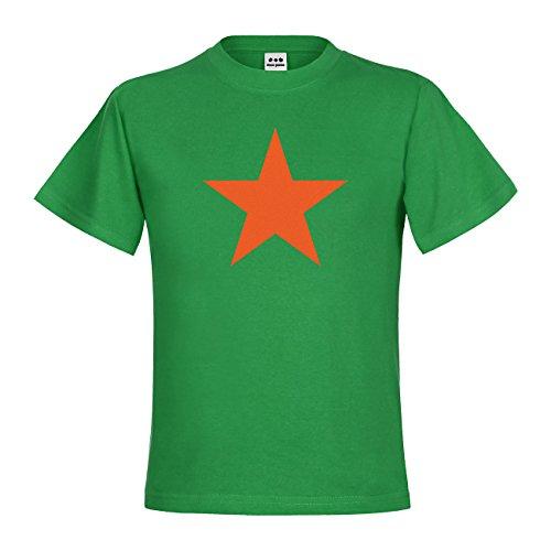 dress-puntos Kids Kinder T-Shirt Roter Stern 20drp15t-kt00029-279 Textil kellygreen / Motiv orange Gr. 134/146 (Roter Grün T-shirt Stern)