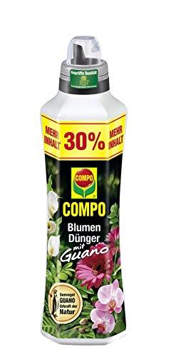 COMPO Blumenduenger mit Guano 1,3 Liter - flüssiger Universaldünger mit wertvollen Phytohormonen und Spurennährstoffen