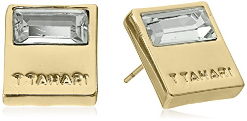 t-tahari-gold-square-button-with-crystal-baguette-stone-stud-earrings