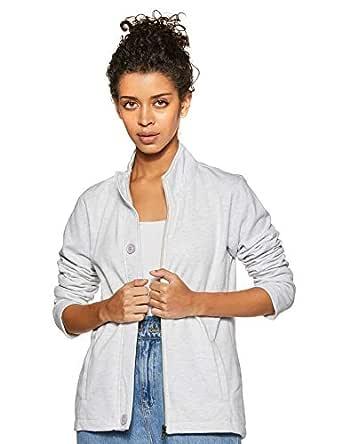 Cazibe Women's Fleece Sweatshirt (308BOU_Ecru_Medium)