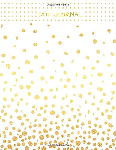Dot Journal: Dotted Notebook, white and gold