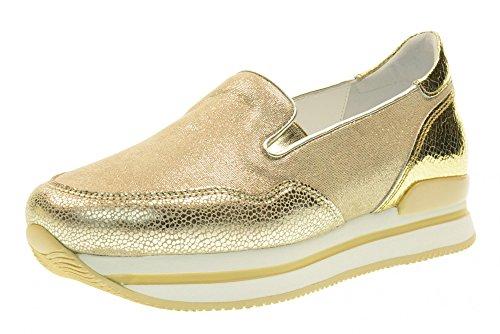 HOGAN Frauen rutschen auf HXW2220T671FOB0PZ8 H222 Pantofola Gold