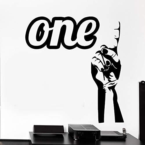 yiyiyaya 3D Finger Hand EIN Arm Zitat Eine Pop Art Wandbild Schlafzimmer Wohnzimmer Dekoration Wandaufkleber Abnehmbare 56X68 cm -