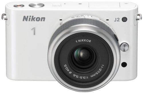Nikon 1 J2 Systemkamera (10,1 Megapixel, 7,5 cm (3 Zoll) Display) Kit inkl. Nikkor 11-27,5 mm weiß - 3