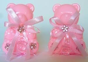 gastgeschenke taufe b ren 3st rosa tortendeko tischdeko babyparty k che haushalt. Black Bedroom Furniture Sets. Home Design Ideas