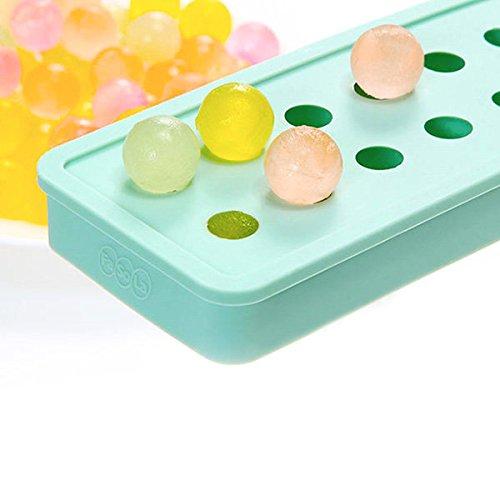 bureze kcasa kc-on430Mini-Tablett Silikon Ice Ball Ice Cubes 20Mulden DIY Pudding Jelly Schokolade Form (Schokoladenformen Haus)