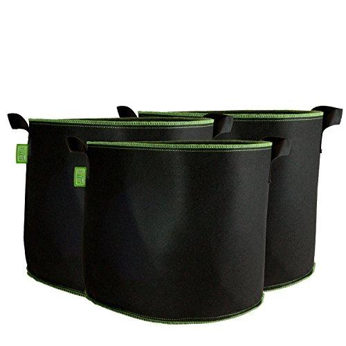 DIYer Pflanzsack aus Vliesstoff - 10 Gallonen, ca. 40 Liter - 3er Pack Pflanztasche Kartoffelsack Pflanzbeutel - Die gesunde Alternative