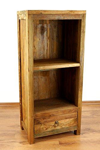 Java Hochschrank | Hochregal aus recyceltem Bootsholz | Asiatisches Standregal | Designer Möbel aus Bootsholz | Kommode der Marke Asia Wohnstudio | Massivholzregal Asiatisches Bücherregal