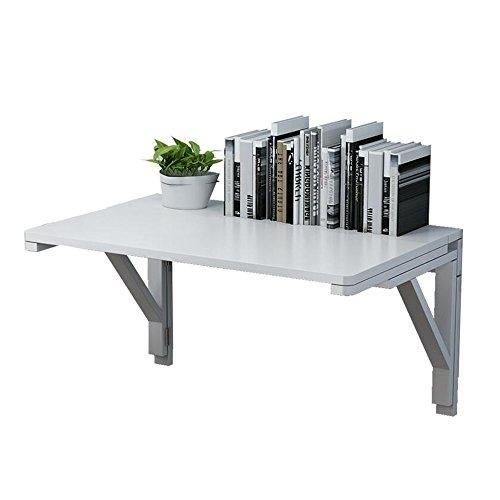 DEO Bureau d'ordinateur Tableau accrochant de Tableau pliant en bois plein Plusieurs tailles durable (Couleur : Blanc, taille : 80 * 50CM)