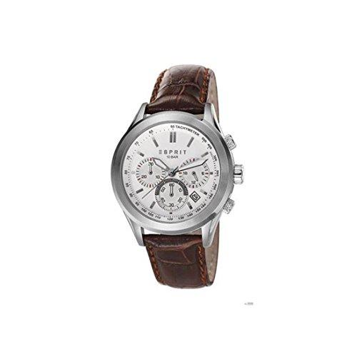 Reloj con hombre Chrono ESPRIT ES107031003 210 piel, color marrón