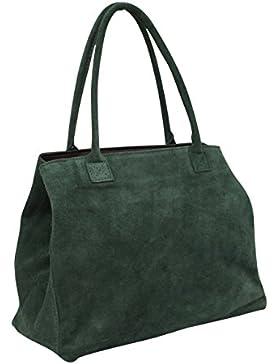 AMBRA Moda Damen Wildleder Handtasche Schultertasche Shopper WL810