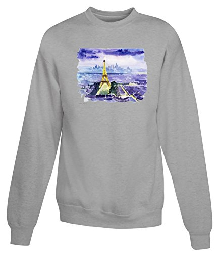 Billion Group | Breathtaking Painting Of Paris | City Collection | Women's Unisex Sweatshirt Gris