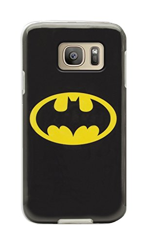 Phonix SS7WB1 une Véritable Coque AUTHENTIQUE avec Logo Batman DC Comics Etui pour Samsung Galaxy, Coques iphones