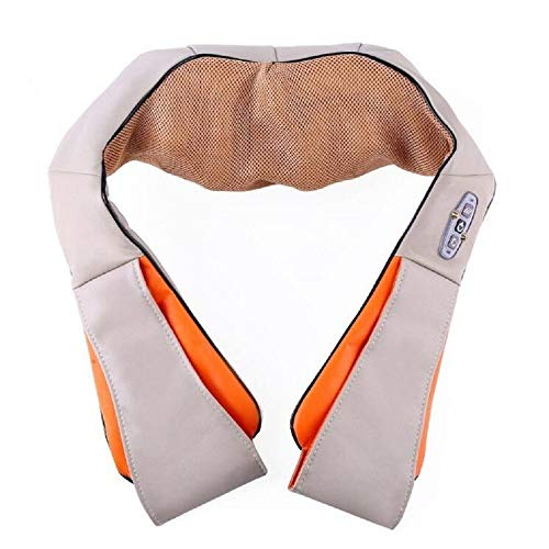 Auto Elektronik Nackenmassagegerät, Shiatsu-Rückenmassagegeräte Schultermassagegerät mit Wärme und einstellbarer Intensität, tief knetendes Gewebe Elektrische Massage für Büro, Zuhause & Auto zum Auto