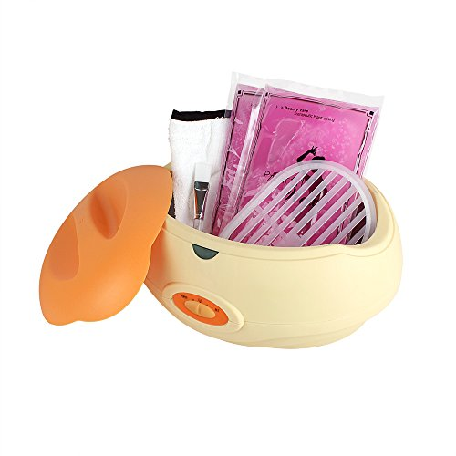 Das Hand Paraffin Bad Für Wachs (Forever Speed Paraffinbad Paraffin Wachs and Zubehör Paraffin inkl ( 2x450g Paraffin +1x golves+1x booties +1x Pinsel +1x Schutz Bord) Starter-Set 150W Orange)
