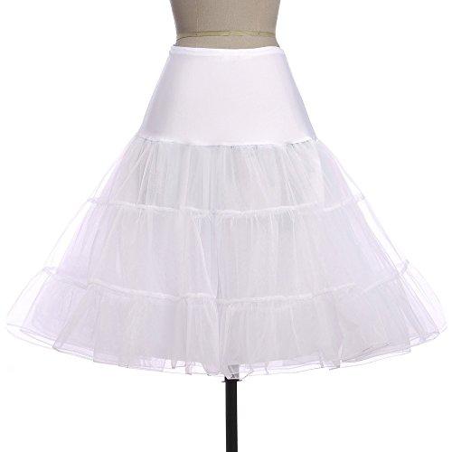 Veiai Damen Unterrock Weiß