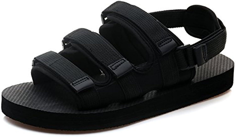 Sandalen MAZHONG Herren Sommer Bad Rutschfeste Outer Beach Shoes (Farbe : Black EU38/UK5.5/CN38)