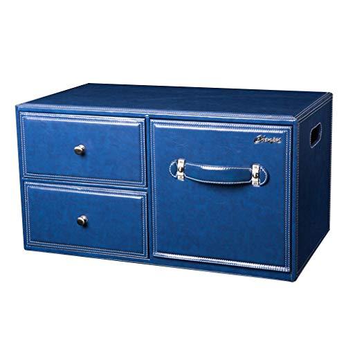 Boîte de Rangement pour Le Coffre de Voiture Boîte de Rangement pour la Voiture Boîte de Rangement pour la Voiture Boîte de Rangement pour la Voiture (Color : Blue, Size : 64 * 55.5 * 34cm)