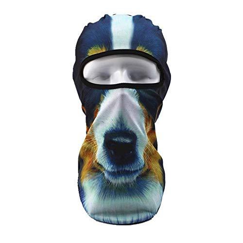 JOJOJOMay - Pasamontañas para Motocicleta de Moda y Hermoso, protección contra el Sol, máscara de esquí, Divertido, 3D Animal, tapón de Viento para Casco, L, 1 Pieza