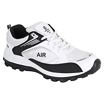 Aero Power Play Sports Shoes (AERO-SPTSH-AI106-03-WHT-BLK-6_Black_6)