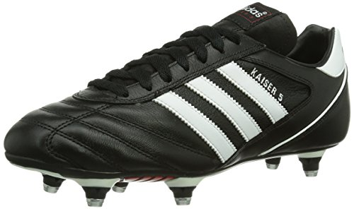 Adidas, Kaiser 5 Cup, Scarpe Sportive, Uomo, Nero (Black/Running White Ftw/Red), 41 1/3