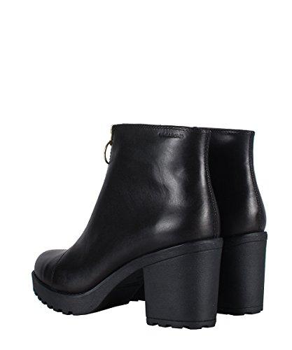 Vagabond Grace Zip Boots Black-Boots Noirs avec zip or Noir