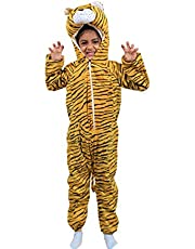 Fancy Steps animal tiger fancy dress costume story telling character fancy dress costume | Annual functions | Baby show | Play costume | animal fancy dress | baby show | b'day gift (4 to 6 years)