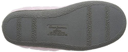 Dearfoams Quilted Microfiber Terry Clog With Memory Foam, Chaussons femme Rose (Fresh Pink 00657)