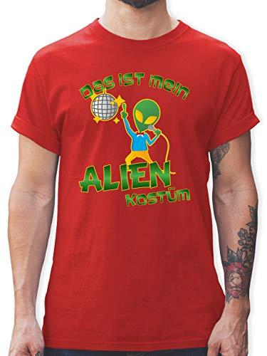 Rotes Disco Kostüm - Karneval & Fasching - Das ist Mein Alien Kostüm Disco - 3XL - Rot - L190 - Herren T-Shirt und Männer Tshirt